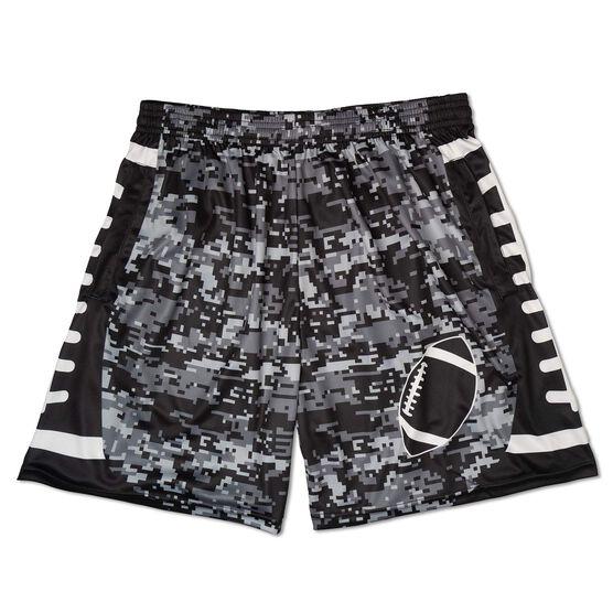 Digital Camo Football Shorts