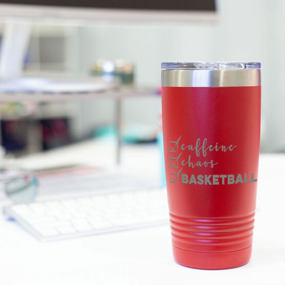 Basketball 20oz. Double Insulated Tumbler - Caffeine, Chaos and Basketball