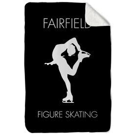 Figure Skating Sherpa Fleece Blanket - Personalized Team Name