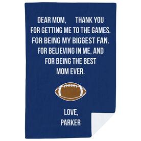 Football Premium Blanket - Dear Mom Heart