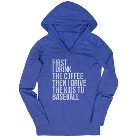Baseball Lightweight Performance Hoodie - Then I Drive The Kids To Baseball