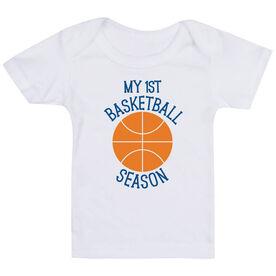 Basketball Baby T-Shirt - My First Basketball Season