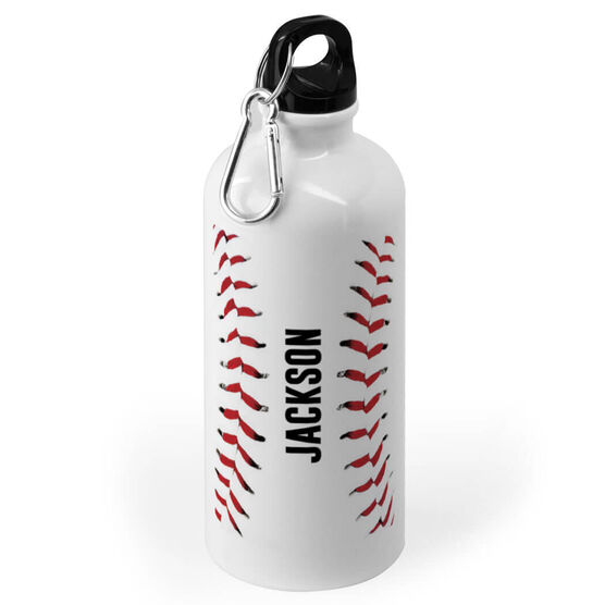Baseball 20 oz. Stainless Steel Water Bottle - Personalized Stitches