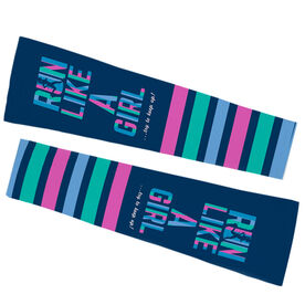 Running Printed Arm Sleeves - Run Like A Girl... Try To Keep Up
