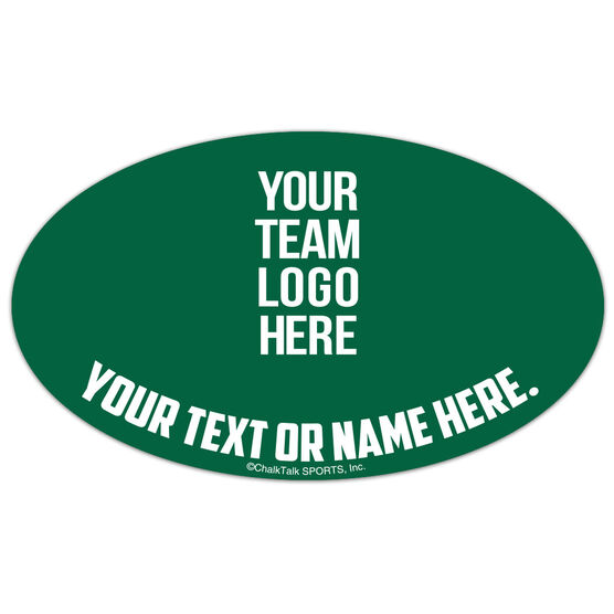 Crew Oval Car Magnet Your Logo
