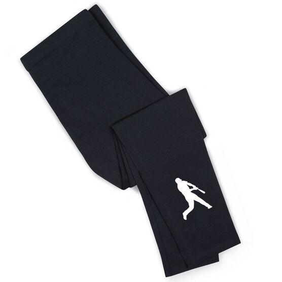 Baseball Leggings - Batter Silhouette