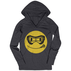 Girls Lacrosse Lightweight Performance Hoodie Smiley Face