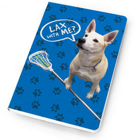 Girls Lacrosse Notebook Lax with Me