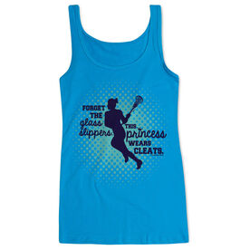 Girls Lacrosse Women's Athletic Tank Top This Princess Wears Cleats