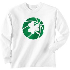 Basketball Tshirt Long Sleeve Basketball Shamrock
