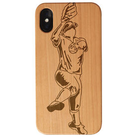 Softball Engraved Wood IPhone® Case - Pitcher