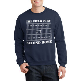 Football Crew Neck Sweatshirt - The Field Is My Second Home
