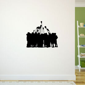 Guys Lacrosse Removable ChalkTalkGraphix Wall Decal - All For One