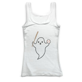 Baseball Vintage Fitted Tank Top - Ghost