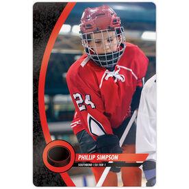 "Hockey 18"" X 12"" Aluminum Room Sign - Player Photo"