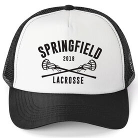 Girls Lacrosse Trucker Hat - Team Name With Curved Text