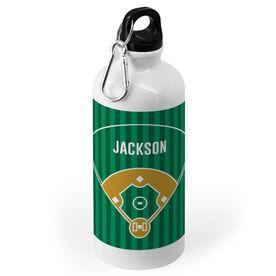 Baseball 20 oz. Stainless Steel Water Bottle - Field