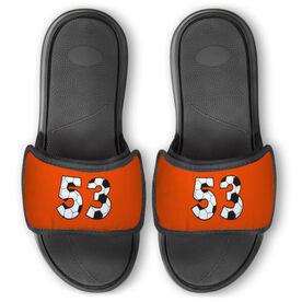 Soccer Repwell™ Slide Sandals - Custom Soccer Number