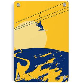 Skiing Metal Wall Art Panel - Endless Skiing