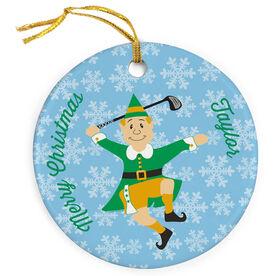Golf Porcelain Ornament Elf