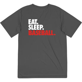 Baseball Short Sleeve Performance Tee - Eat. Sleep. Baseball.