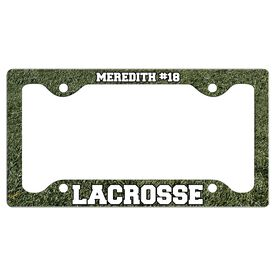 Custom Lacrosse Player License Plate Holders