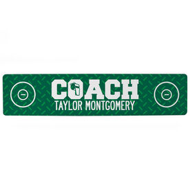 "Wrestling Aluminum Room Sign - Coach Wrestling (4""x18"")"