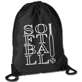Softball Sport Pack Cinch Sack Softball!