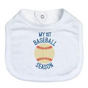 Baseball Baby Bib - My First Baseball Season