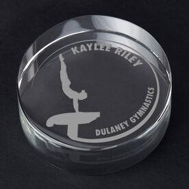Gymnastics Personalized Engraved Crystal Gift - Customized Vault (Female)