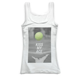 Tennis Vintage Fitted Tank Top - Kiss My Ace
