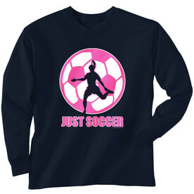 Soccer Tshirt Long Sleeve Just Soccer (Female)