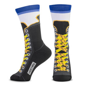 Hockey Woven Mid-Calf Socks - Hockey Skate