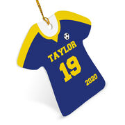 Soccer Ornament - Personalized Solid Jersey