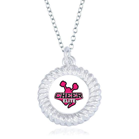 Cheerleading Braided Circle Necklace - Custom Logo