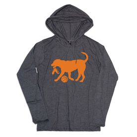Men's Basketball Lightweight Hoodie - Basketball Dog