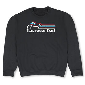 Guys Lacrosse Crew Neck Sweatshirt - Lacrosse Dad Sticks