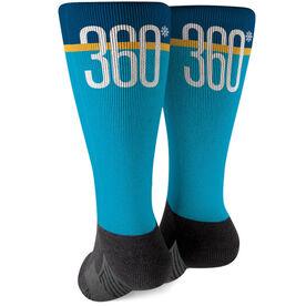Skiing and Snowboarding Printed Mid-Calf Socks - Degree Turns