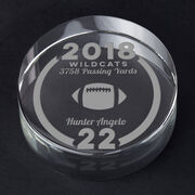 Football Personalized Engraved Crystal Gift - Custom Team Award