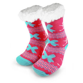 Cheer Slipper Socks with Sherpa Lining