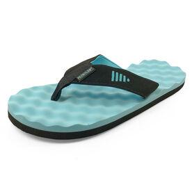 PR SOLES® Recovery Flip Flops - Black/Aqua
