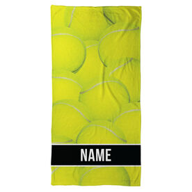 Tennis Beach Towel Personalized Ball Background