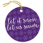 Swimming Porcelain Ornament Let It Snow Let Us Swim