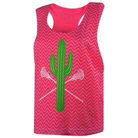 Girls Lacrosse Racerback Pinnie - Cactus