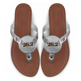Running Engraved Thong Sandal - Simply 26.2