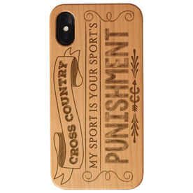 Cross Country Engraved Wood IPhone® Case - Punishment
