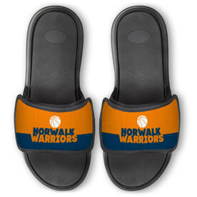 Basketball Repwell™ Slide Sandals - Team Name Colorblock