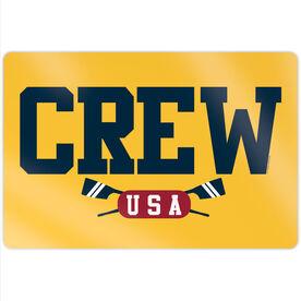 """Crew 18"""" X 12"""" Aluminum Room Sign - Crew USA"""