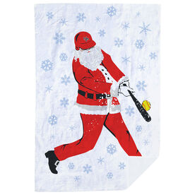 Softball Premium Blanket - Homerun Santa