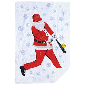 Softball Premium Blanket - Homerun Santa